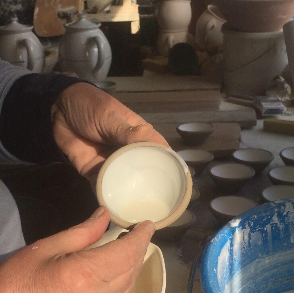 Glasering af små skåle....